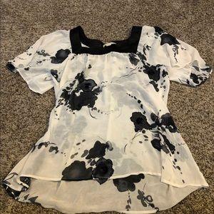 Tops - White and black shirt